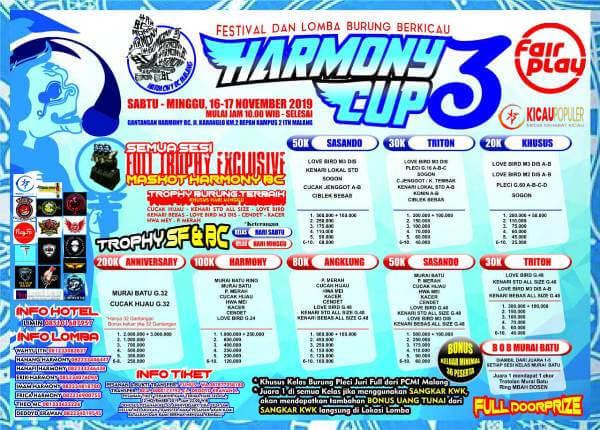 lomba burung HARMONY CUP 3