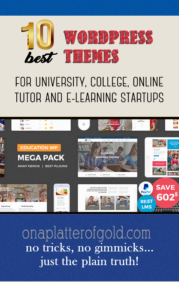 10 POWERFUL WordPress Themes For University, College, Online Tutor And eLearning Startups