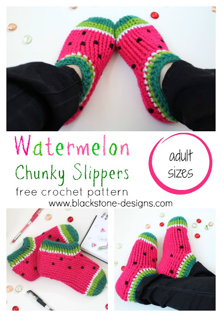 Pin the Watermelon Chunky Slippers to Pinterest