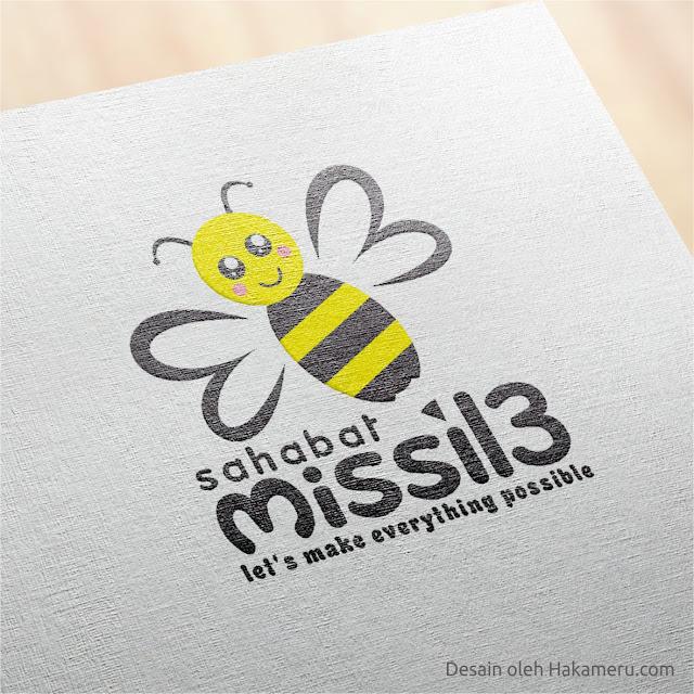 Desain logo sahabat missil 3 organisasi peduli anak - Jasa desain grafis online Hakameru