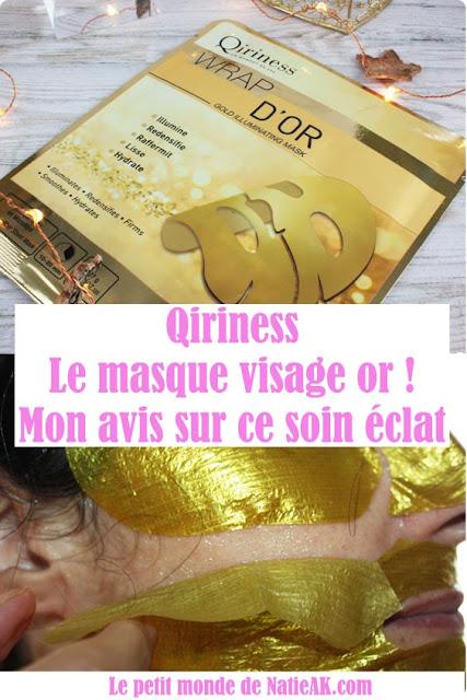 qiriness masque tissu or