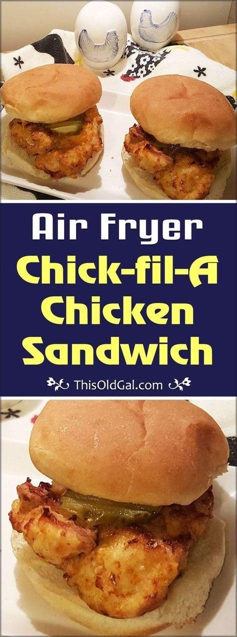 Air Fryer Chick-fil-A Chicken Sandwich