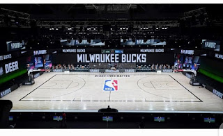 National Basketball Association (NBA) Players boycotted games as part of a protest against racial injustice
