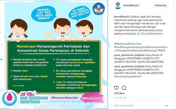 Pengaruh menstruasi bagi siswi di sekolah