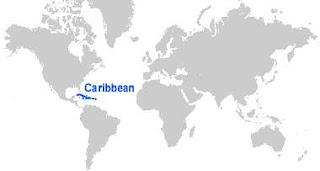 Gambar Peta letak Kepulauan Karibia