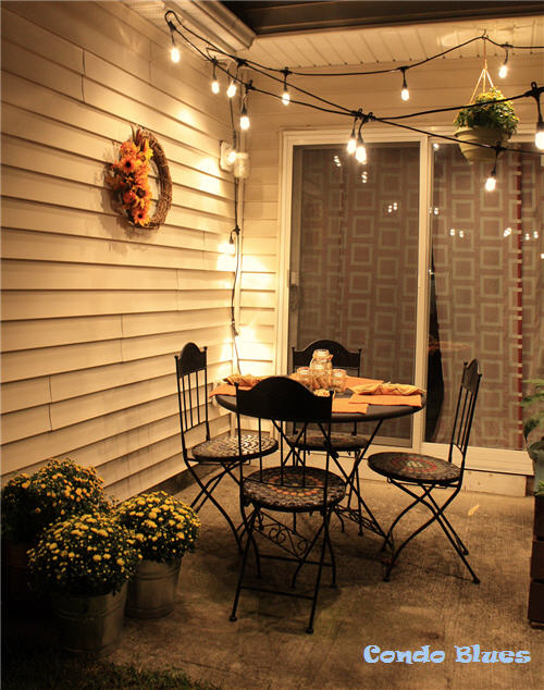 The Enbrighten Café Lights Make Our Little Condo Patio Décor Feel Posh!