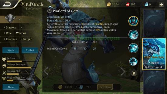 Cara Menggunakan Hero Kil'Groth's AOV