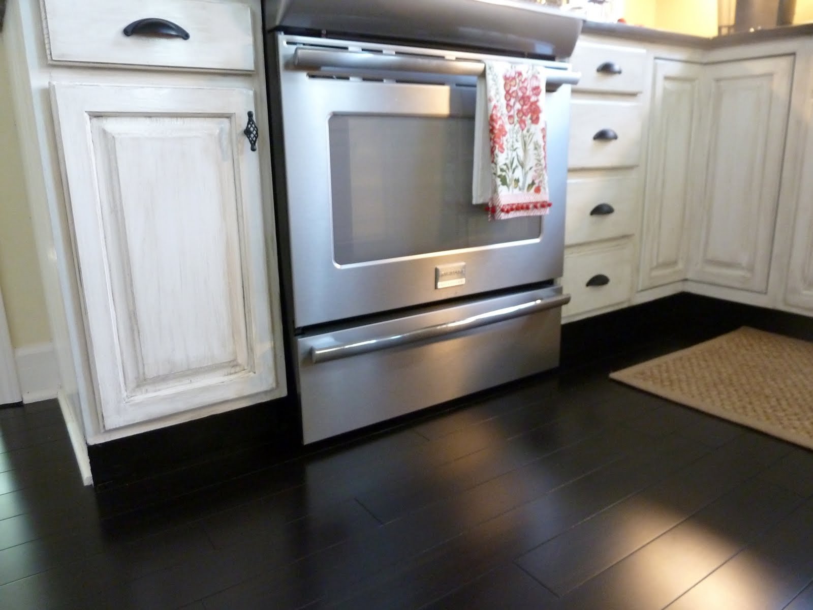 White Kitchen Floor black kitchen cabinets with dark floors black kitchen cabinets