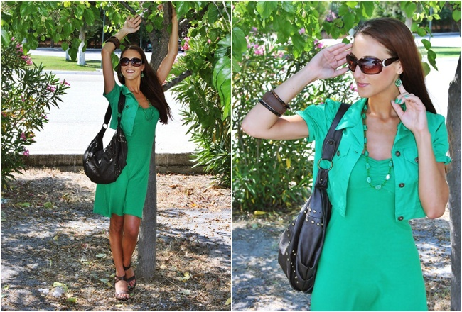 best brown and green outfit combinations for warm weather