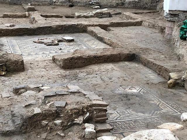 Nuevos mosaicos hallados en Martos de una villa romana
