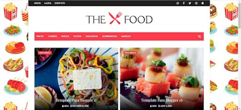 The Food Para Blogger Template