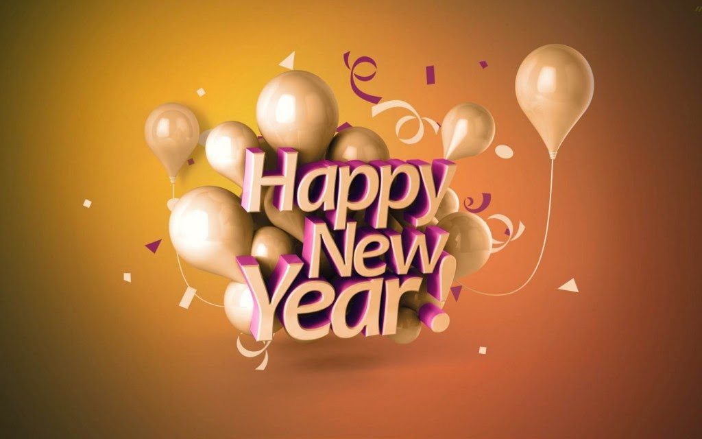Happy New Year 2019 3D Text Images for ipad