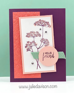 Stampin' Up! Queen Anne's Lace Card ~ www.juliedavison.com