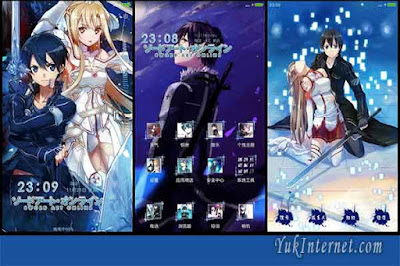 tema anime xiaomi sword art online