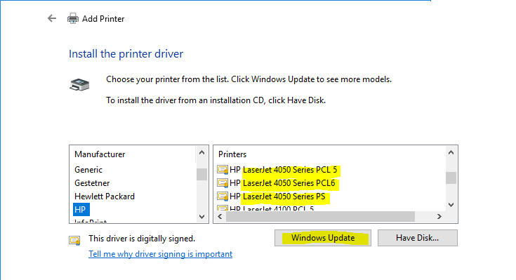 Install Printer Software on HP LaserJet Printers with Simple