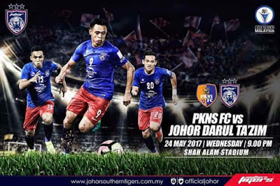 Live Streaming  PKNS FC vs JDT FC 24 Mei 2017 Liga Super