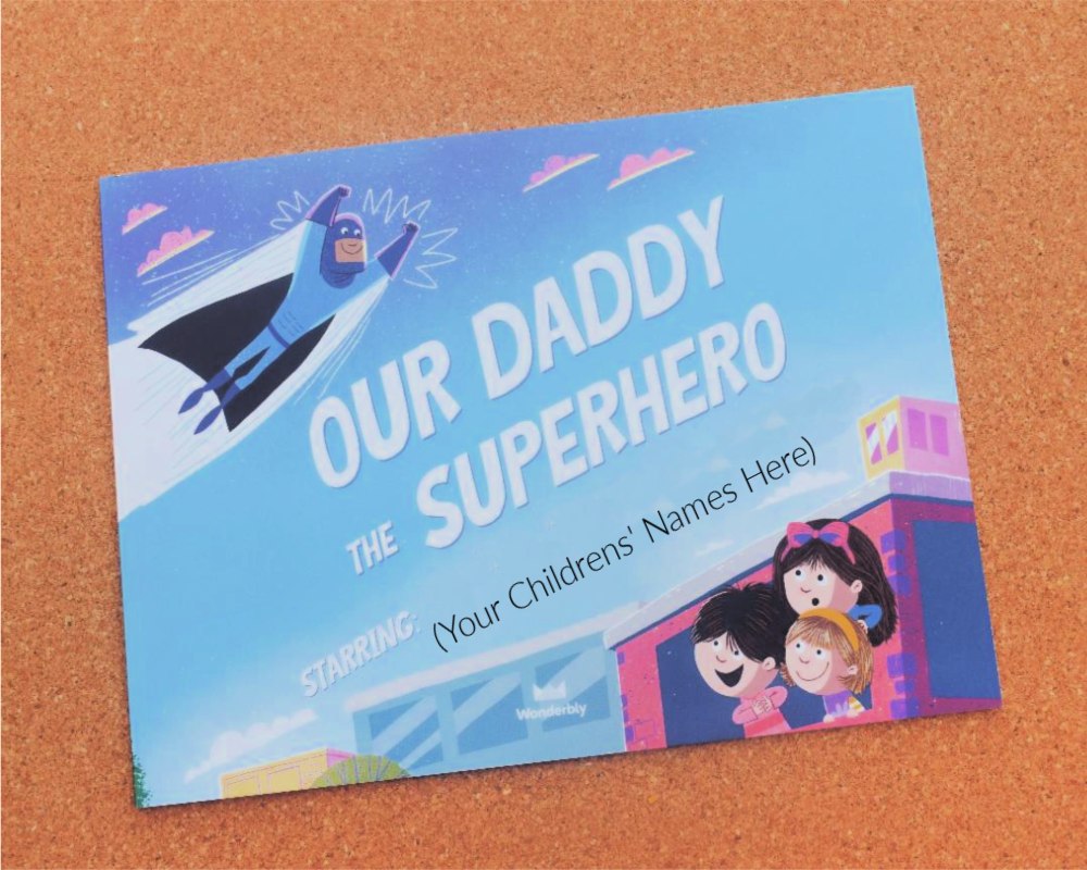 Wonderbly - Our Dad The Superhero Personalised Book
