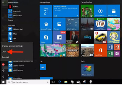 Cara Mengunci Windows 10 di PC