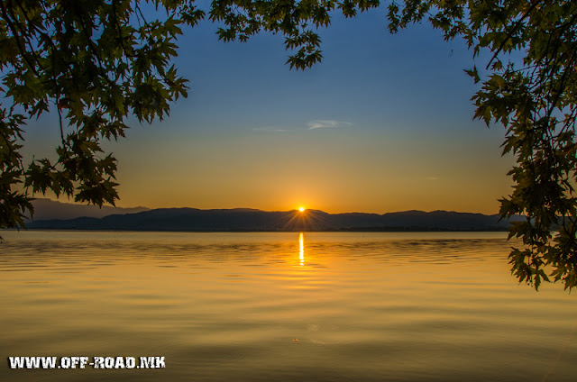 Macedonia - Dojran Lake - beautiful sunrise scene