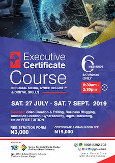 GOUNI Executive Certificate Course Admission Form 2019/2020