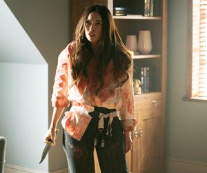 Megan Fox cubierta de sangre
