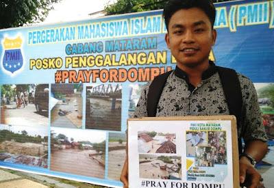 PC PMII Mataram Galang Dana Korban Banjir Dompu