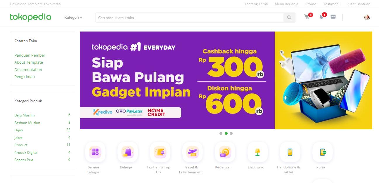 Template Mas Sugeng VioToko redesign Mirip Tokopedia