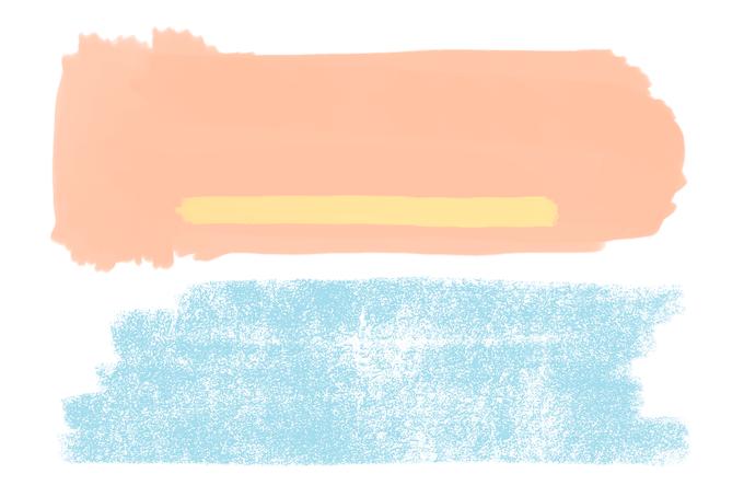 La couleur du mois - abricot poudré