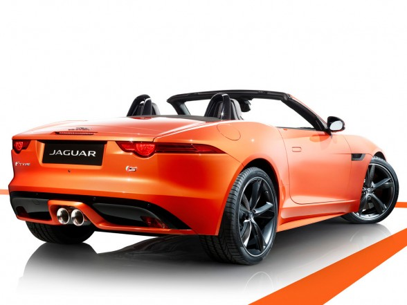 2013 Jaguar F-Type Firesand Rear