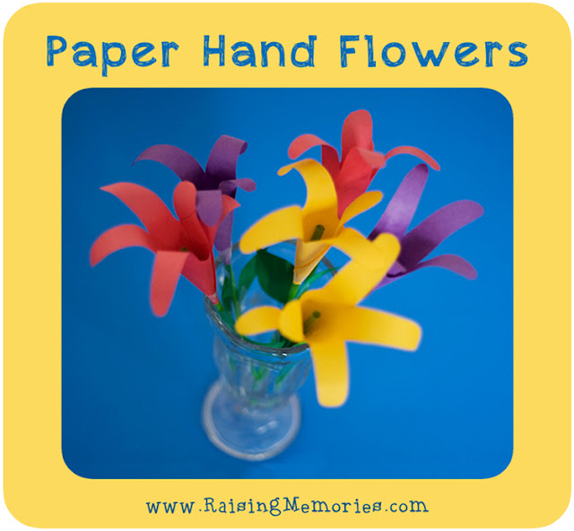 How to Make 3D Flowers out of paper tracing hand