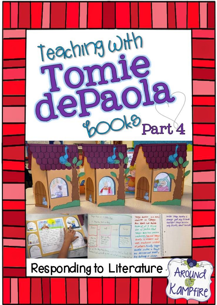 Teaching with Tomie dePaola books Part 4: Responding to the literature. We made these foldable Strega Nona cottages to publish our writing.