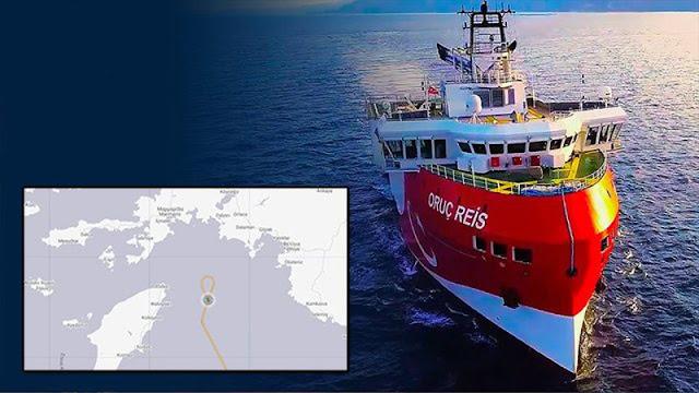 """La nave turca """"Oruc Reis"""" si avvicina alla linea rossa, tornano le tensioni Turchia-Grecia"""
