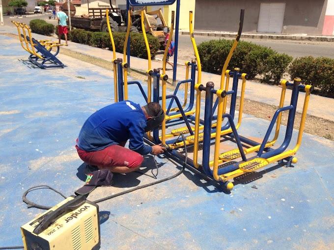 JAPI: Academia da Terceira Idade recebem serviço de manutenção nos equipamentos