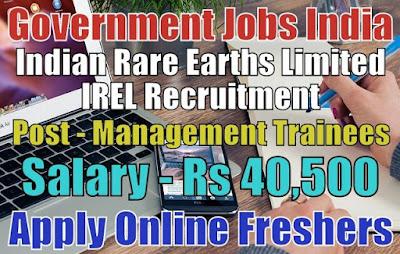 IREL Recruitment 2019