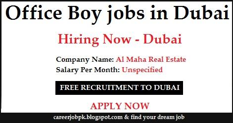 Office Boy jobs in Dubai 2016