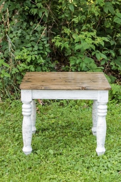A Farmhouse style end table makeover   On The Creek Blog