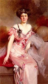 Francois Flameng - Portrait De Mme D.