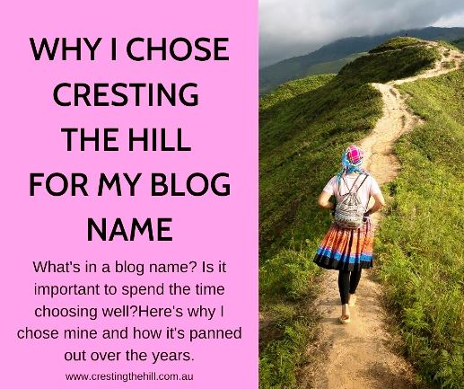 What's in a blog name? Is it important to spend the time choosing well?Here's why I chose mine and how it's panned out over the years.