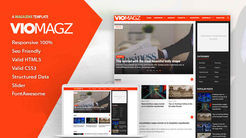 FioMagazine - Responsive Redesign Blogger Template