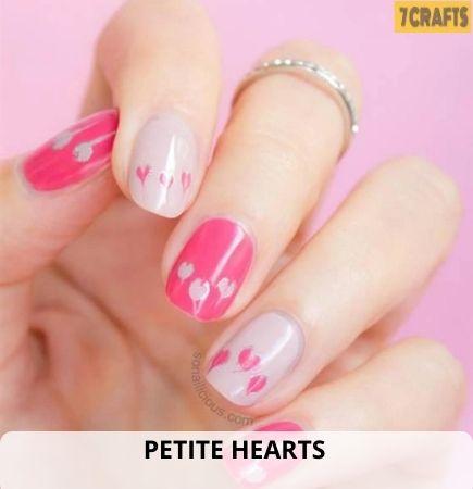 Petite Hearts wedding nails
