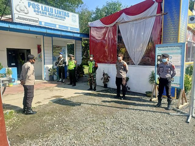 Jalan Medan Siantar Tetap DIjaga Ketat Personel Jajaran Kodim 0207/Simalungun Bersama Dinas Terkait