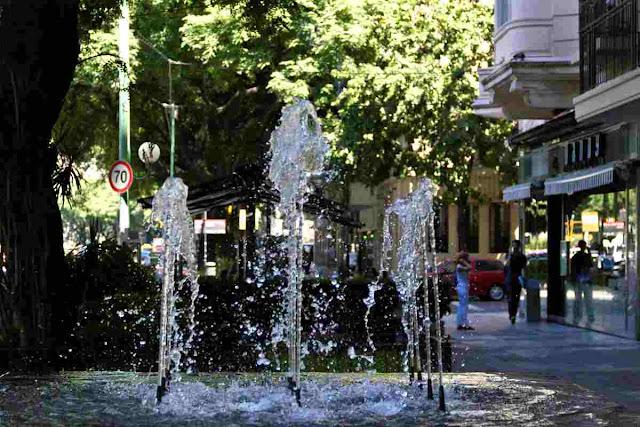 Chorros de aguas de la fuente