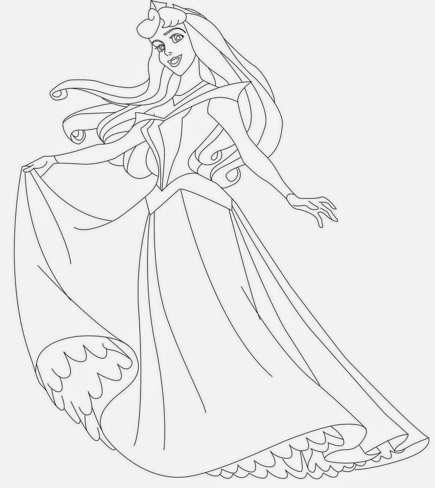 free printable aurora coloring pages - photo#40