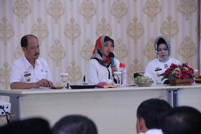 Wakil Gubernur Chusnunia Chalim Lakukan Rakor Gugus Tugas Penanganan Covid-19 di Lampung