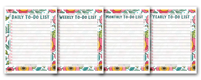 Four free to do list printables