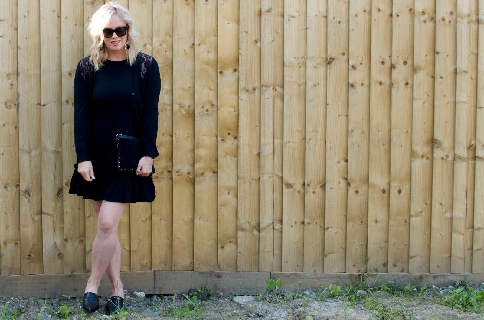 That Cotton Black Mini Dress