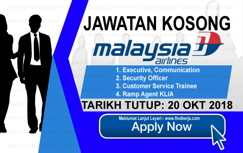 Jawatan Kerja Kosong Malaysia Airlines logo www.ohjob.info www.findkerja.com oktober 2018