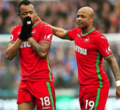 Dede Ayew and Jordan Ayew