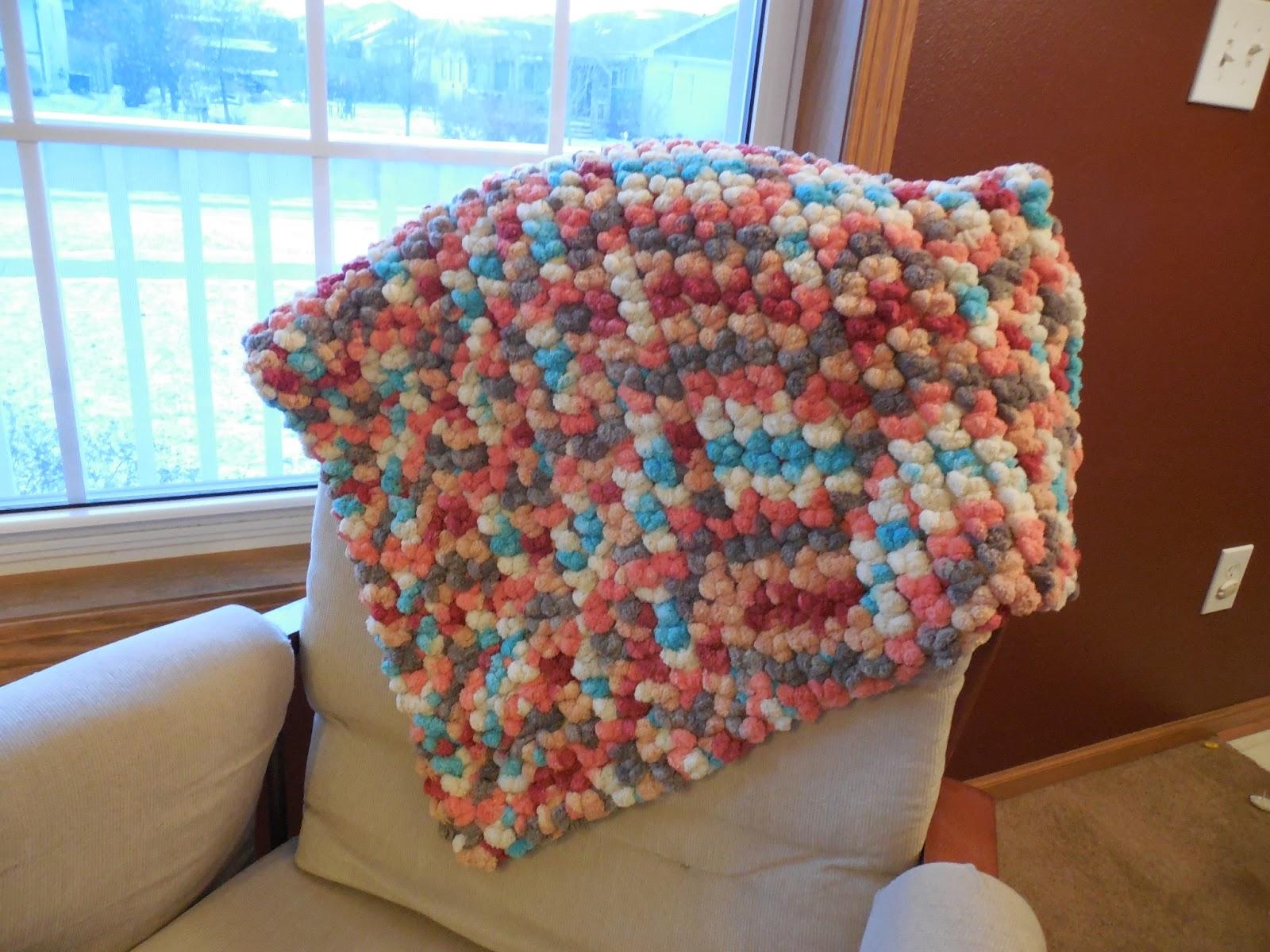 Hooked On Handmade Pom Pom Blanket