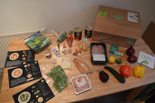 Contents of Hello Fresh box